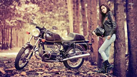 wallpaper girl on bike hd chick wallpapers wallpaper cave