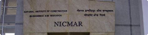 Mba In Construction Management In Mumbai by Nicmar Mba College Mumbai National Institute Of
