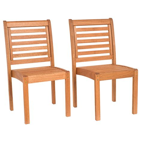 Stackable Chairs Wood by International Home Stackable Chair Eucalyptus Wood