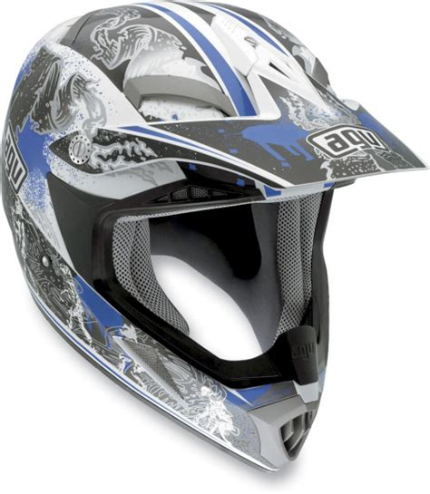 Helm Agv Mtx Agv White Blue Mtx Evolution Helmet 902152a0011010