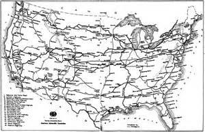 black and white us road map us highway maps gallery