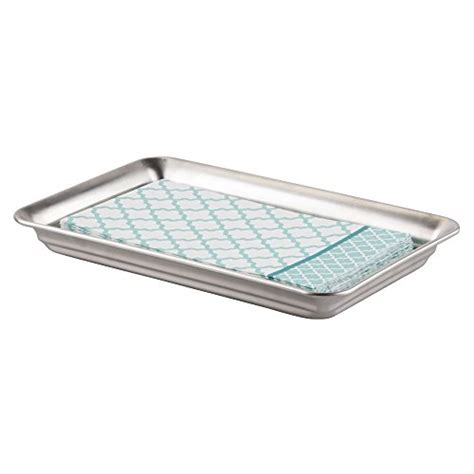 stainless steel bathroom tray mdesign vanity organizer tray for hand towels makeup