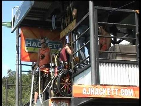 Bungee Jumping Chair - wheelchair bungy aj hackett cairns water touchdown