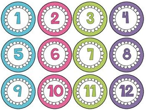printable number label 17 images about number counting cards on pinterest