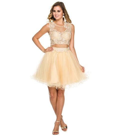prom dresses on pinterest lace gowns prom and sequin dress gold lace two piece homecoming dress homecoming style