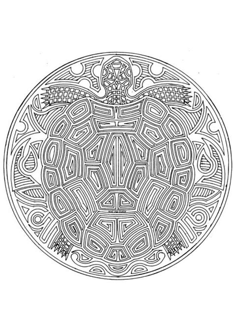 hard turtle coloring pages coloring pages for adults coloring page turtle mandala