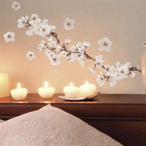 wall stickers fiori decorazione adesiva ramo in fiore wall stickers