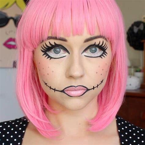 creepy broken doll hair makeup and costume tutorial pin by brittany aucoin on hair and makeup pinterest