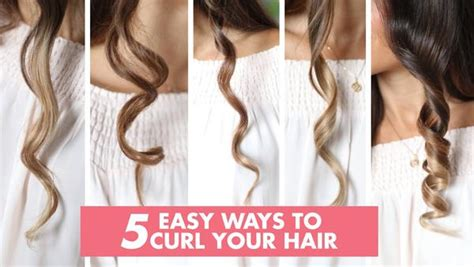 different ways to curl your hair with a wand 5 ways to curl your hair luxy hair