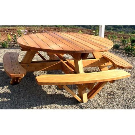 picnic table plans redwood outdoor  picnic