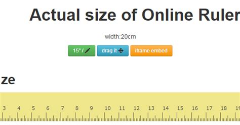 ruler actual size   ruler web based