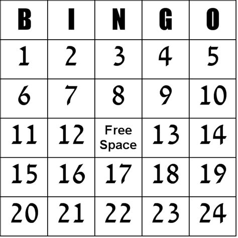 free printable bingo card template printable bingo sheet