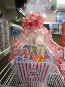 popcorn gift basket movie tickets or dvd supply cake