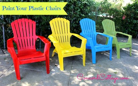Paint Plastic Chairs by All Things Yellow Debbiedoos