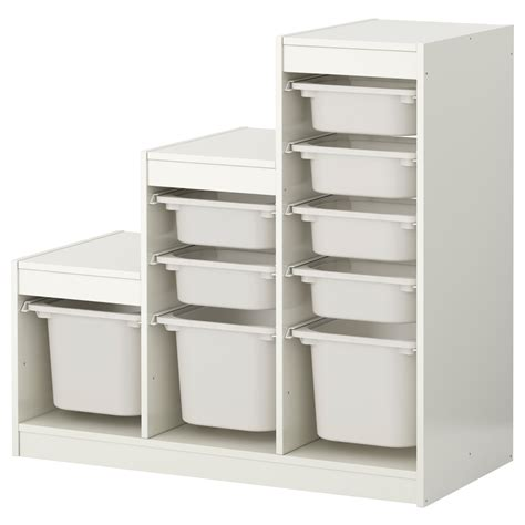 Ikea Stoarge Trofast Storage Combination With Boxes White White