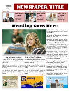 adobe illustrator newspaper template newspaper front page template 1 page ledger size