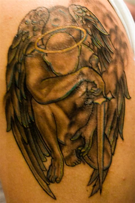 25 angel tattoos ideas to rediscover your strength the