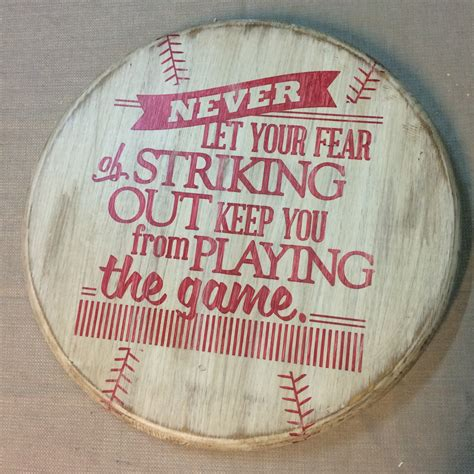 Baseball Wall Decor by Rustic Baseball Wall Decor With Quote