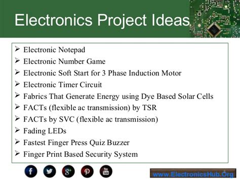 Exelent Electronics Projects For Engineering Students Pdf Free ...