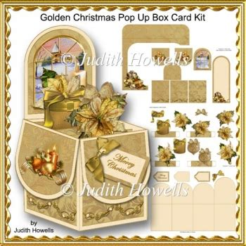how to make a pop out card golden pop up box card kit 163 1 20 instant