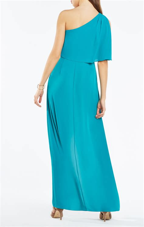 draped gown secha one shoulder draped gown