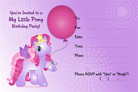 free printable my little pony birthday invitations my little pony birthday invitations