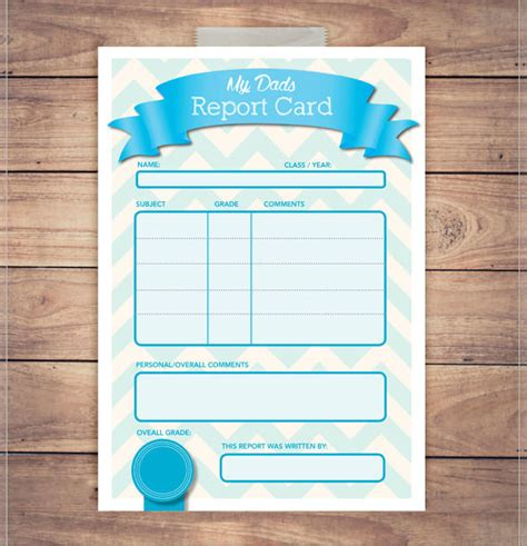 Blank Report Card Templates by Doc 680686 Report Card Template Report Card Template