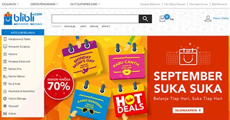 blibli toko online 10 toko online terbaik dan populer di indonesia centerklik