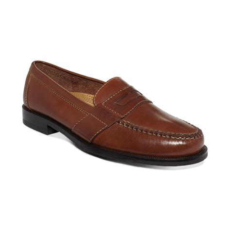 cole han loafers cole haan douglas loafers in brown for lyst