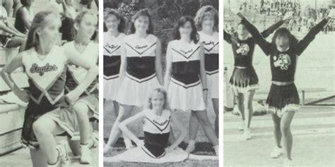 1980 cheer hair styles 1980s cheerleader uniform cheerleading uniforms through