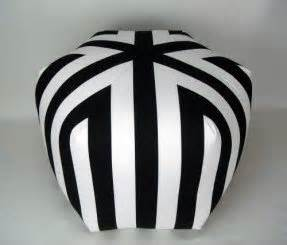 black and white striped ottoman striped ottomans foter