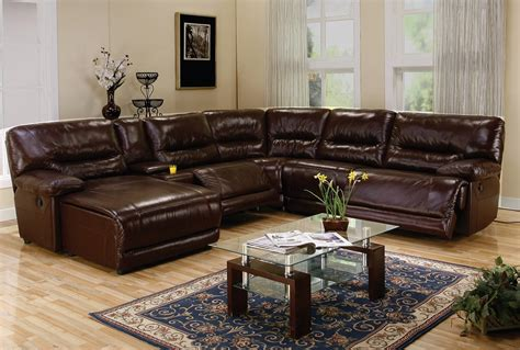 Sectional Sofas Leather Recliner Recliner Leather Sectional Sofa Furniture Ideas