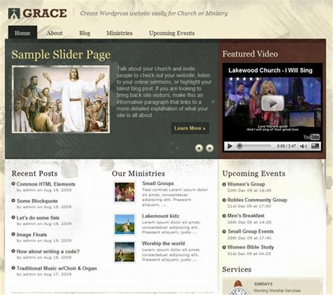 10 free church wordpress themes and premium wordpress