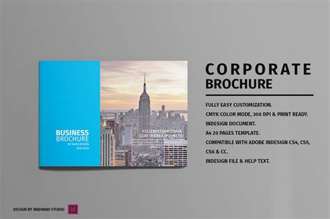 landscape page layout design landscape corporate brochure brochure templates on