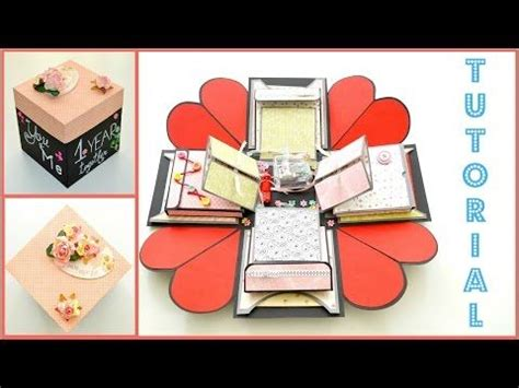 tutorial scrapbook 3d caixa cartao surpresa exploding box scrapbook wmv