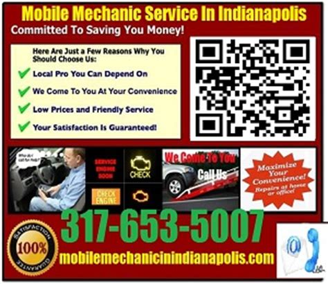 Mobile Mechanic Indianapolis 317 653 5007 Auto Car Repair