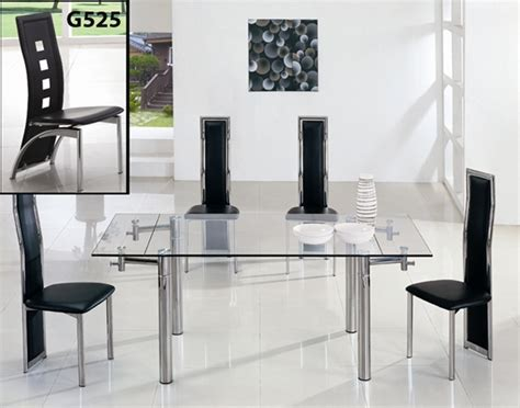Extendable Glass Dining Table And Chairs Java Extending Glass Dining Table Dining Table And Chairs Dining Tables