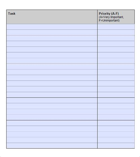 time management to do list template to do list template 9 free sles exles format