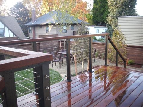 Stainless Steel Deck Railing Ipe Deck With Stainless Steel Cable Rail Deck Masters
