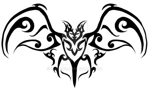 tribal bat tattoo by chilali17 on deviantart