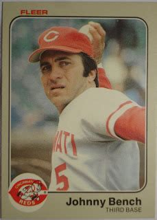johnny bench stats play at the plate december 2009