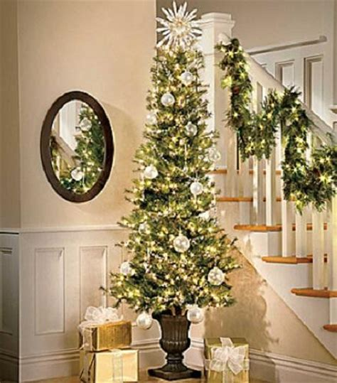 7 foot lighted pre lit slim corner artificial christmas