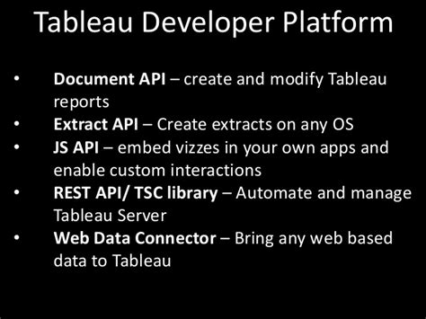 Tableau Api Documentation