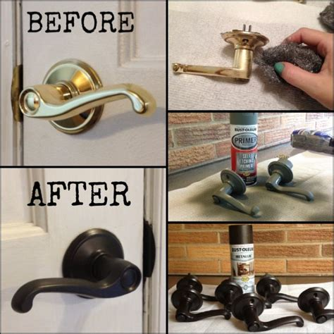 refinished brass door knobs 1 buff with steel wool 2