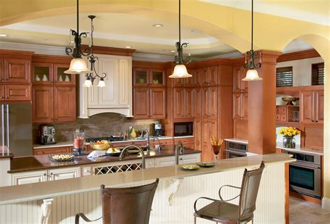 sierra vista maple cognac kitchen timberlake cabinetry