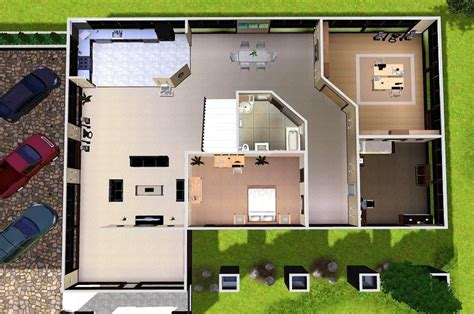Modern House Floor Plans Sims 3 | house plans and design modern house plans for sims 3
