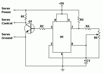 Simple Servo Tester By Alfa Omegas 10k ohm potentiometer schematic get free image about