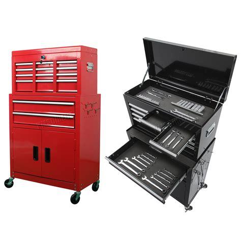 garage toolbox foxhunter metal tool box chest cabinet storage organizer