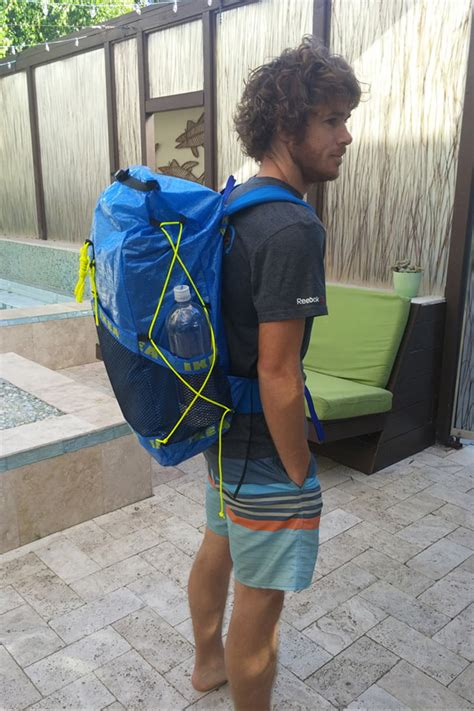 build an ultralight backpack from ikea plastic tote bags inventive backpacker makes diy ikea backpack digital trends