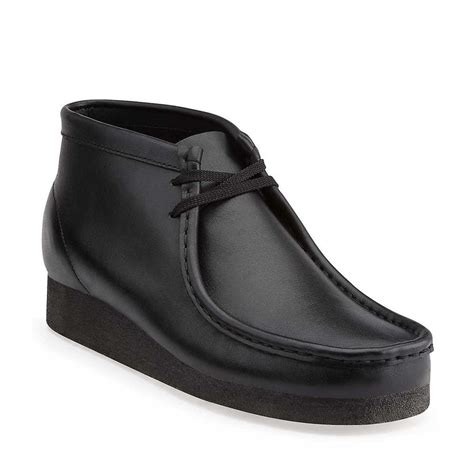 boys clarks wallabee boot clarks s wallabee boot 26035401 black 35401 ebay